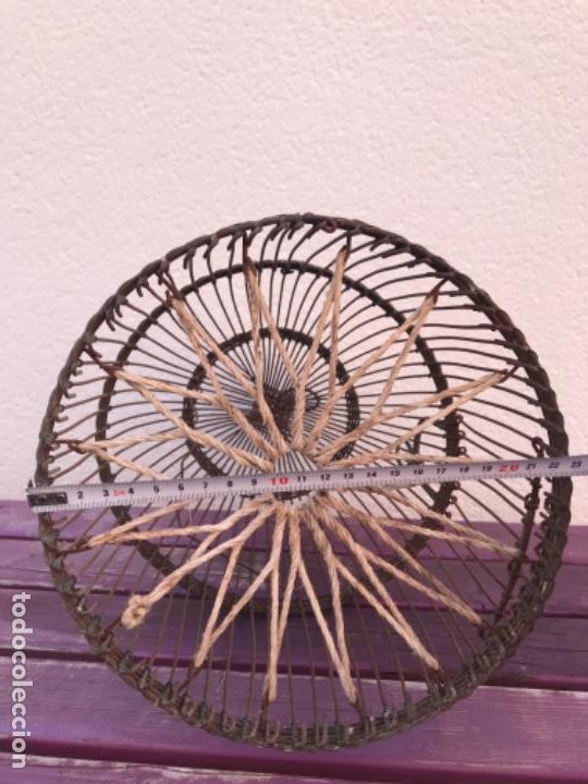 Antigüedades: Jaula artesanal para perdigón - Foto 10 - 204720677