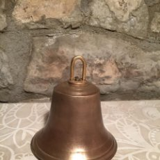 Antigüedades: ANTIGUA CAMPANA DE GRAN TAMAÑO DE BRONCE DE LOS AÑOS 10-20. Lote 272144273