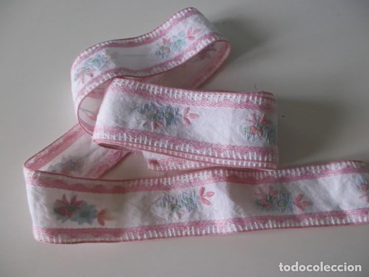 TIRA BORDADA-PUNTILLA ANTIGUA (Antigüedades - Moda - Encajes)