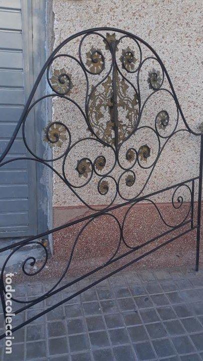 Antigüedades: cabezal de cama mediados del siglo XIX,corte isabelino fantastico trabajo - Foto 5 - 204746770