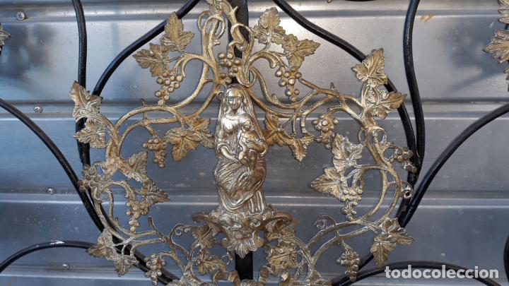 Antigüedades: cabezal de cama mediados del siglo XIX,corte isabelino fantastico trabajo - Foto 6 - 204746770