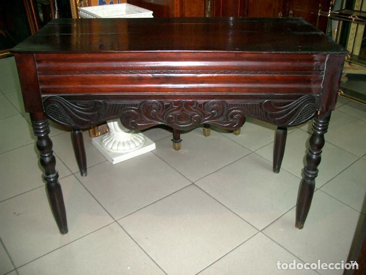 CONSOLA ISABELINA AUTENTICA (Antigüedades - Muebles Antiguos - Consolas Antiguas)