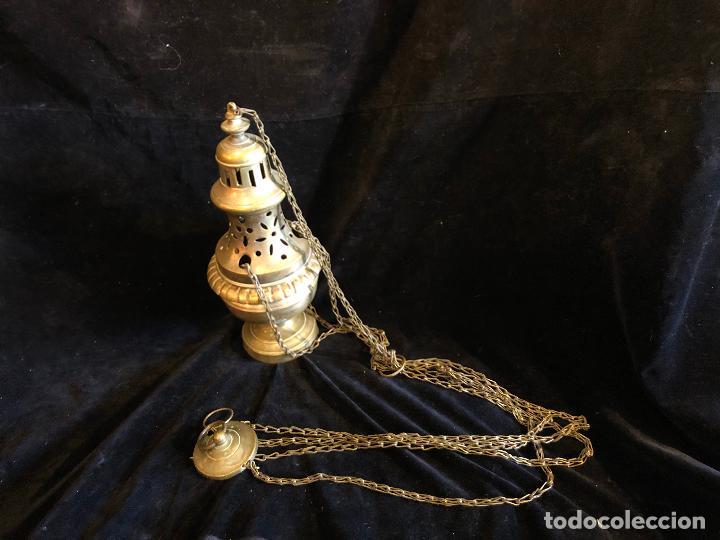 INCENSARIO DE METAL (Antigüedades - Religiosas - Orfebrería Antigua)
