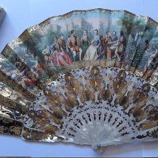 Antigüedades: PRECIOSO ABANICO ISABELINO S. XIX. Lote 204778062