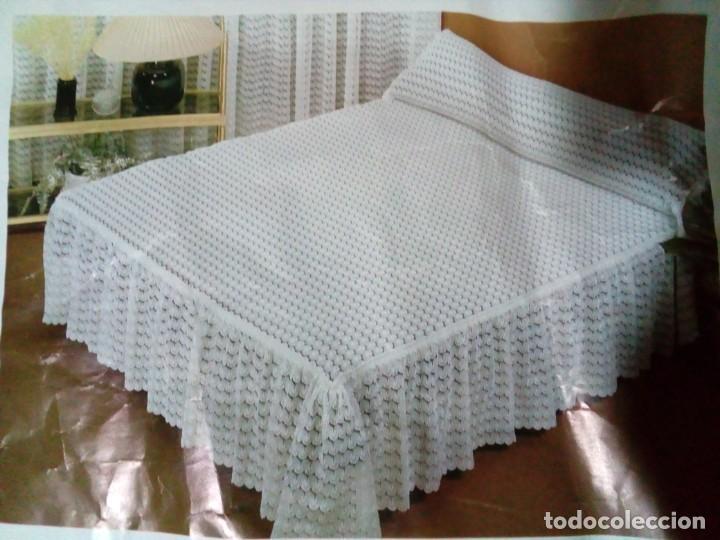 Antigüedades: bonita colcha para cama de matrimonio - Foto 2 - 204784825