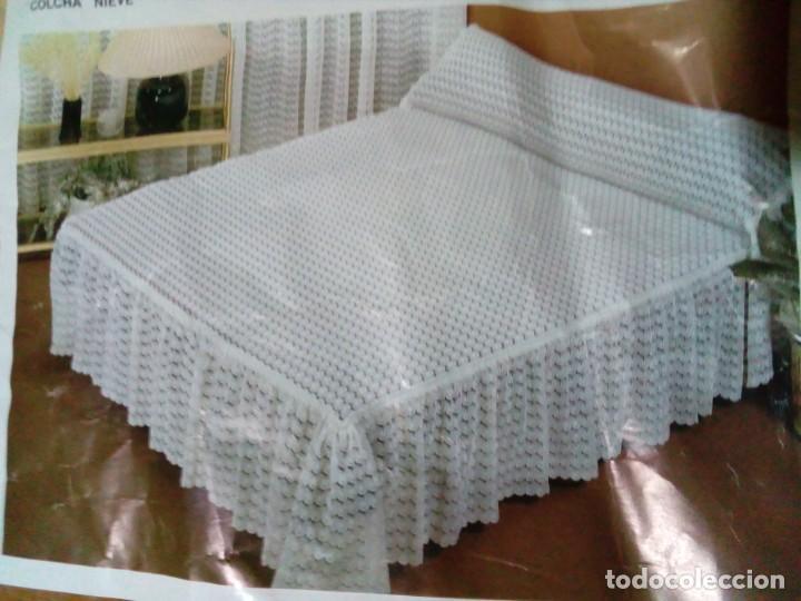 Antigüedades: bonita colcha para cama de matrimonio - Foto 4 - 204784825
