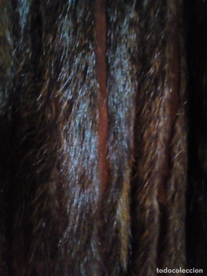 Antigüedades: ABRIGO DE PIEL NATURAL PLISADA TALLA 46-48 - Foto 5 - 204785801