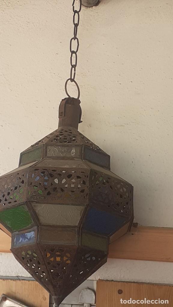 FAROL ÁRABE MARROQUÍ (Antigüedades - Iluminación - Faroles Antiguos)