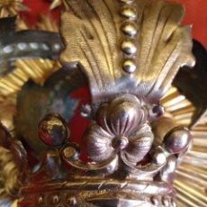 Antigüedades: MAGNIFICA CORONA EN PLATA DE LEY. Lote 204817797