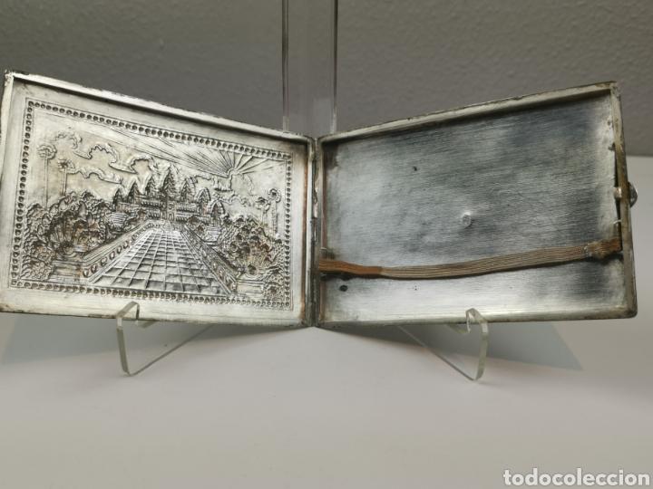 Antigüedades: Antigua Pitillera Tabaquera repujada en Plata. Pesa 105 g. Gran pieza de colección. - Foto 5 - 204834372