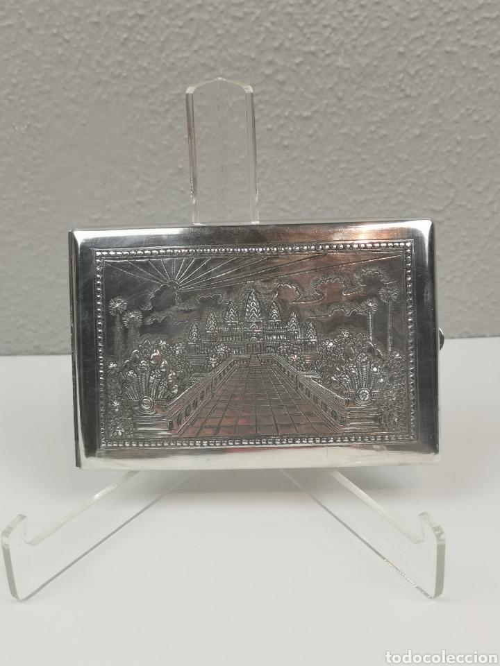 Antigüedades: Antigua Pitillera Tabaquera repujada en Plata. Pesa 105 g. Gran pieza de colección. - Foto 8 - 204834372