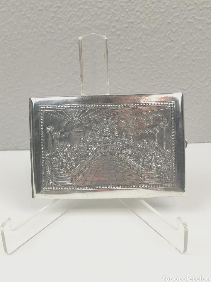 Antigüedades: Antigua Pitillera Tabaquera repujada en Plata. Pesa 105 g. Gran pieza de colección. - Foto 3 - 204834372