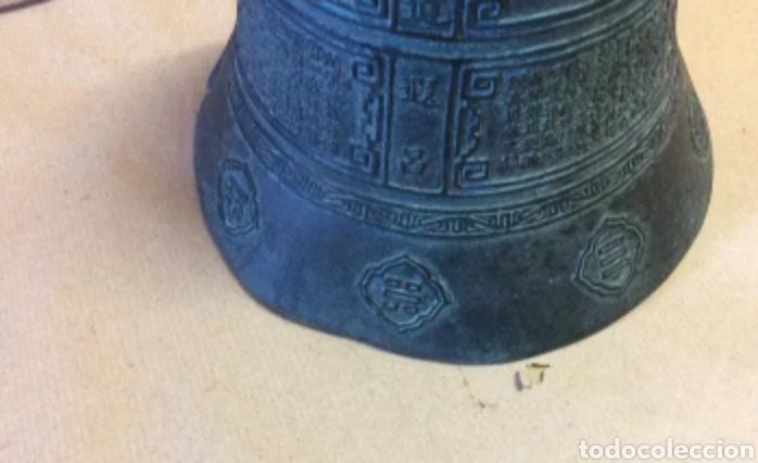 Antigüedades: Campana con asa de bronce, vintage - Foto 5 - 204838902
