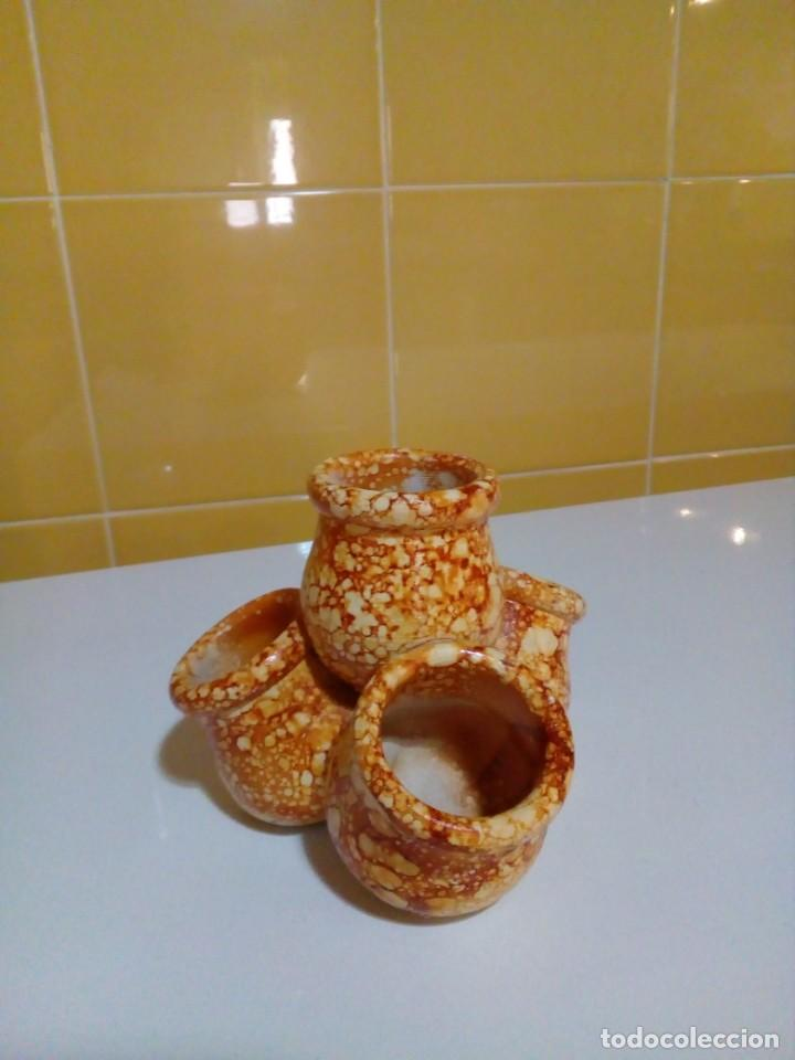 Antigüedades: portavelas- cuatro tinajas hechas a mano - Foto 2 - 204842858