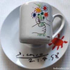 Antigüedades: TAZA DE CAFÉ CON PLATO PICASSO 2004. Lote 204843998