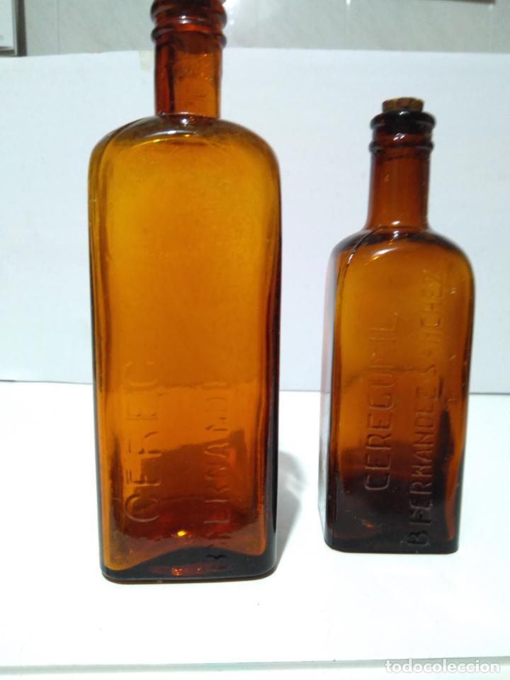 Antigüedades: Antiguos frascos de Ceregumil B Fernández Sánchez19 y 16 cm - Foto 2 - 204847545