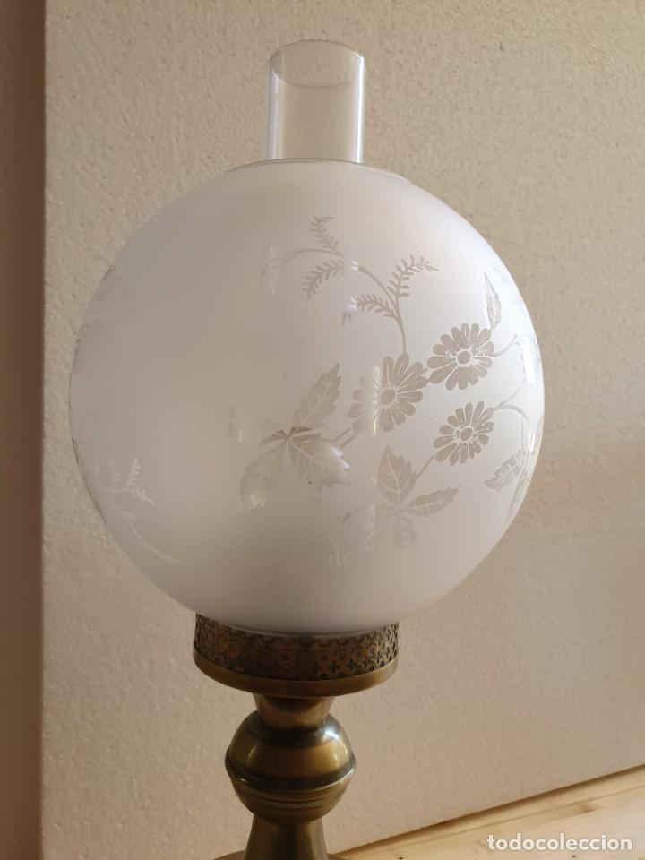 Antigüedades: ANTIGUA LAMPARA DE SOBREMESA TIPO QUINQUE - Foto 2 - 204849025