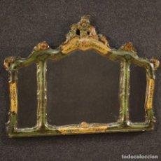 Antigüedades: ESPEJO VENECIANO LACADO Y PINTADO. Lote 204968152