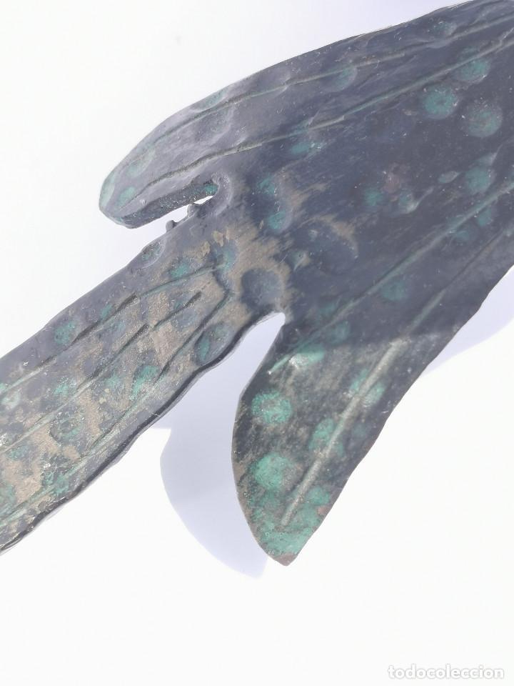 Antigüedades: ANTIGUO PORTAVELAS - BRONCE - MUY ELABORADO - PALMATORIA - CANDELABRO - GRAN TAMAÑO - Foto 5 - 204996933