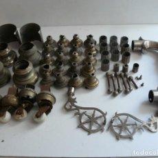 Antiquités: LOTE DE PIEZAS METALICAS DE UN CABECERO DE CAMA ANTIGUO - VER LAS FOTOS.. Lote 204997478