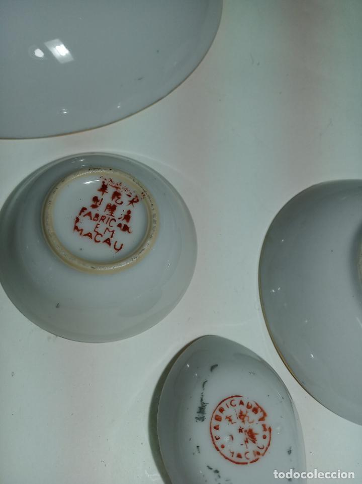 Antigüedades: Gran conjunto de porcelana china de cantón. Gran fuente, cuenco, platos, cuchara. - Foto 8 - 205001190