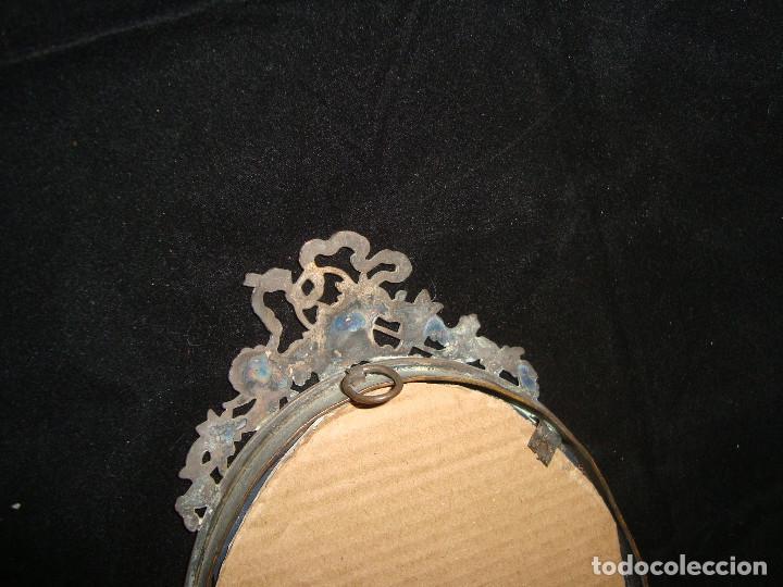 Antigüedades: ANTIGUO ESPEJO DE TOCADOR CON MARCO PLATEDADO - Foto 4 - 205029487