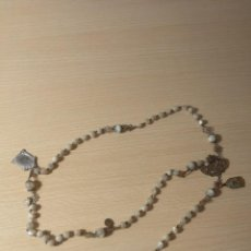 Antigüedades: ROSARIO ANTIGUO DE NACAR Y FILIGRANA. Lote 205035313