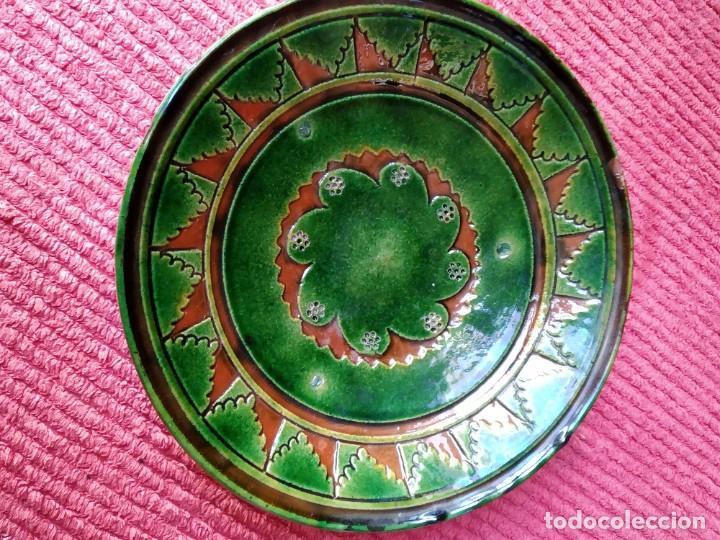 PLATO O FUENTE CERÁMICA FIRMADO TITO UBEDA(JAÉN) (Antigüedades - Porcelanas y Cerámicas - Úbeda)