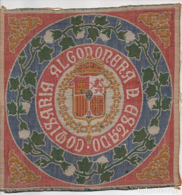 TAPIZ- COMISARIA ALGODONERA DEL ESTADO- MIDE: 21 X 21 C.M. VER FOTO (Antigüedades - Hogar y Decoración - Alfombras Antiguas)