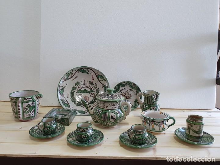 LOTE DE CERAMICA DE TERUEL 15 PIEZAS (Antigüedades - Porcelanas y Cerámicas - Teruel)