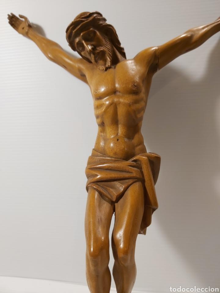 Antigüedades: ANTIGUO CRISTO EN MADERA DE BOJ - Foto 3 - 205103051