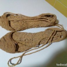 Antigüedades: ALPARGATAS DE ESPARTO. Lote 205108928