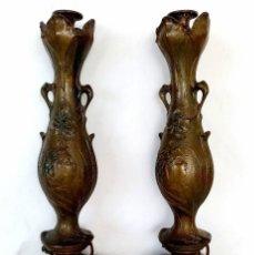 Antigüedades: ANTIGUOS PORTAVELAS MODERNISTAS S XIX ART NOVEAU. Lote 205118217