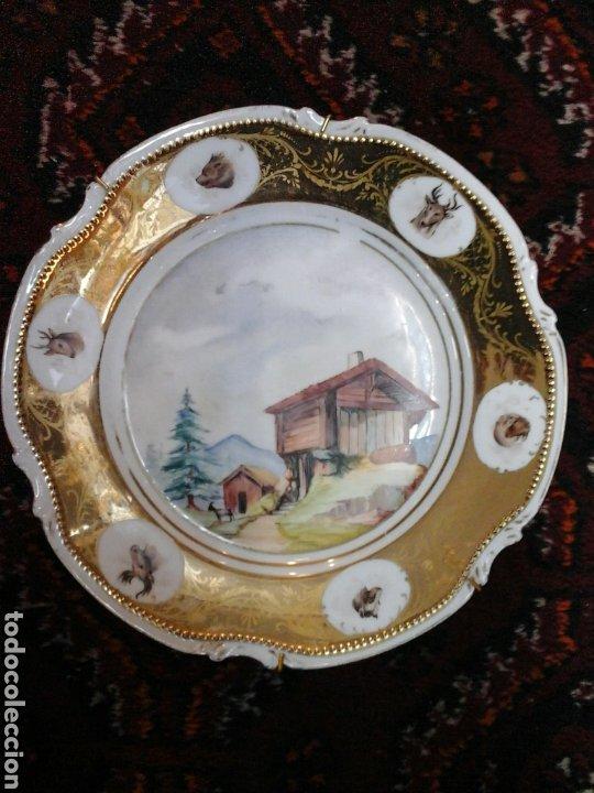 PLATO PORCELANA LIMOGES MANDAVY DE MAVELEIX 1908-1920 (Antigüedades - Porcelana y Cerámica - Francesa - Limoges)