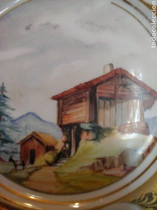 Antigüedades: Plato porcelana Limoges Mandavy de Maveleix 1908-1920 - Foto 2 - 205118412