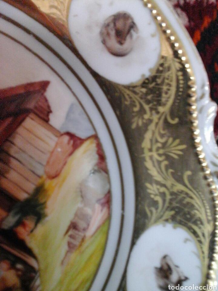 Antigüedades: Plato porcelana Limoges Mandavy de Maveleix 1908-1920 - Foto 4 - 205118412