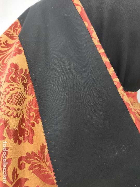 Antigüedades: Saya brocada naranja - Foto 13 - 164877914