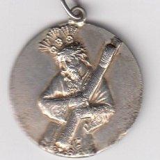 Antigüedades: ANTIGUA MEDALLA RELIGIOSA EN PLATA EN RELIEVE DEL NAZARENO (GRABADA EN REVERSO VISITAR) 6 GR.. Lote 205130492