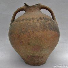 Antigüedades: ROTUNDO CÁNTARO CERÁMICA ARAGONESA DE CALANDA XIX. Lote 205130982