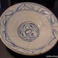 Antigüedades: EXCELENTE PLATO CERÁMICA DE TERUEL XIX. Lote 205131318