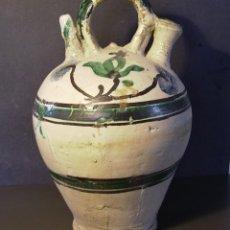 Antiguidades: ROTUNDO Y GRAN BOTIJO CERÁMICA ARAGONESA DE MUEL XIX. Lote 205131437