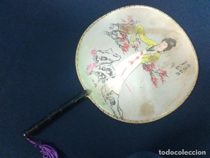 PAY PAY ABANICO PINTADO (Antigüedades - Moda - Abanicos Antiguos)