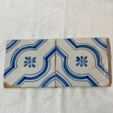 Antigüedades: DOS AZULEJOS CATALANES S. XIX. Lote 205135888