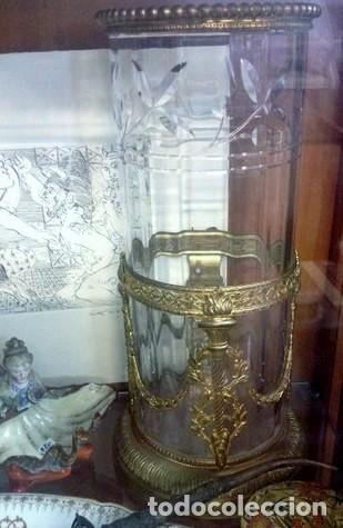 Antigüedades: Pareja JARRONES CRISTAL Y ORO AL MERCURIO..antiguos Luis XVI. ORIGINALES .PIEZAS DE MUSEO. - Foto 2 - 205146700