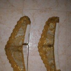 Antigüedades: 2 CUELLOS DE DALMATICA SIGLO XIX BORDADOS EN HORONY PASAMANERIA. Lote 205164926