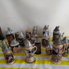Antigüedades: COLECCIÓN DE JARRAS ANTIGUAS ALEMANAS. Lote 205175946