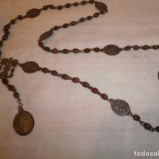 Antigüedades: ANTIGUO ROSARIO CON MEDALLAS DE PLATA MADRE DE LOS DOLORES. Lote 205176978