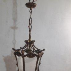Antigüedades: LAMPARA EN BRONCE. Lote 205207758