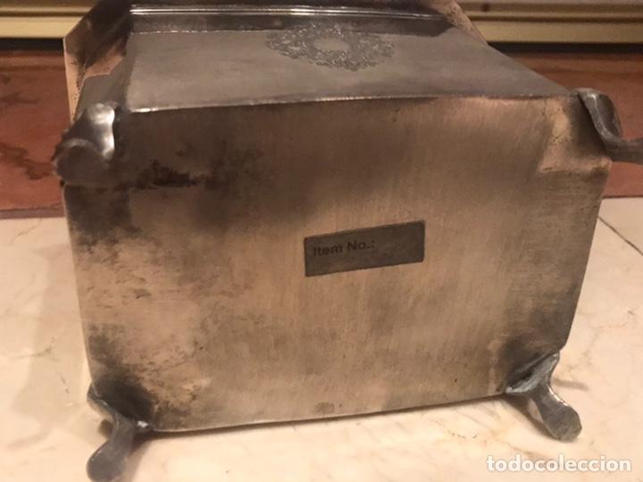 Antigüedades: Caja de alpaca - Foto 4 - 205232546