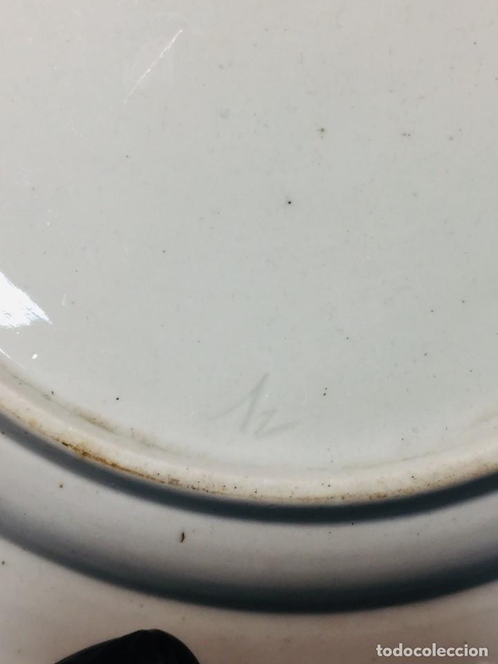 Antigüedades: plato porcelana alemana s xviii ochavado marca impresa 24cms - Foto 13 - 173005892